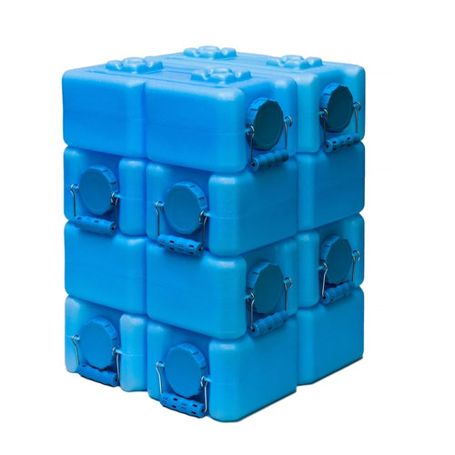 WaterBrick BPA Free 3.5-gallon Water Storage Container (Pack of 8) - Blue - Going Off Grid
