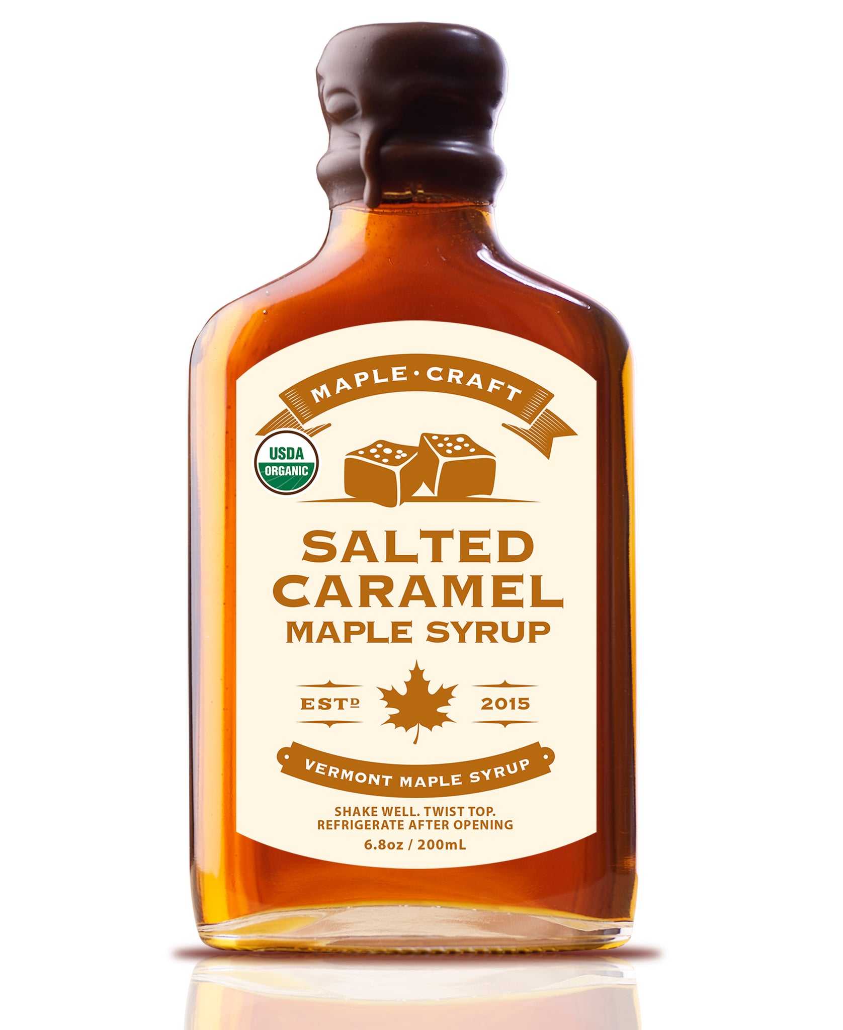 Salted Caramel Maple Craft Syrup (Organic) - Going Off Grid