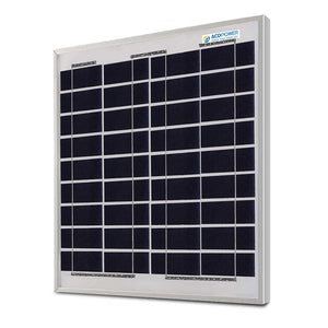 ACOPOWER 15 Watts Poly Solar Panel, 12V - Going Off Grid