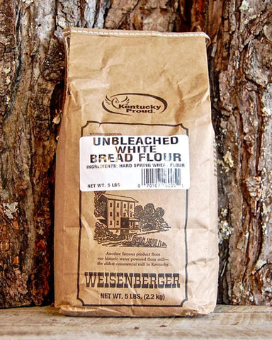 ALL-NATURAL Weisenberger's 100% Pure Unbleached WHITE Bread Flour - Going Off Grid