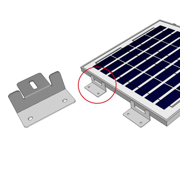 ACOPOWER Solar Panel Mounting Kit Z Bracket - Set of 4 for RV Boat Off Gird Installation - Going Off Grid
