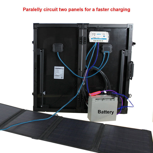 ACOPOWER 60W Foldable Solar Panel Kit with 10A Charge Controller
