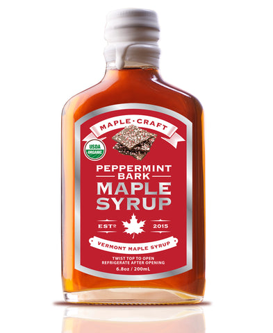 Maple Craft Peppermint Bark Vermont Maple Syrup (Organic) - Going Off Grid