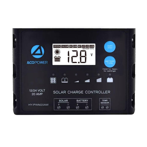 ACOPOWER Waterproof ProteusX 20A PWM Solar Charge Controller - Going Off Grid
