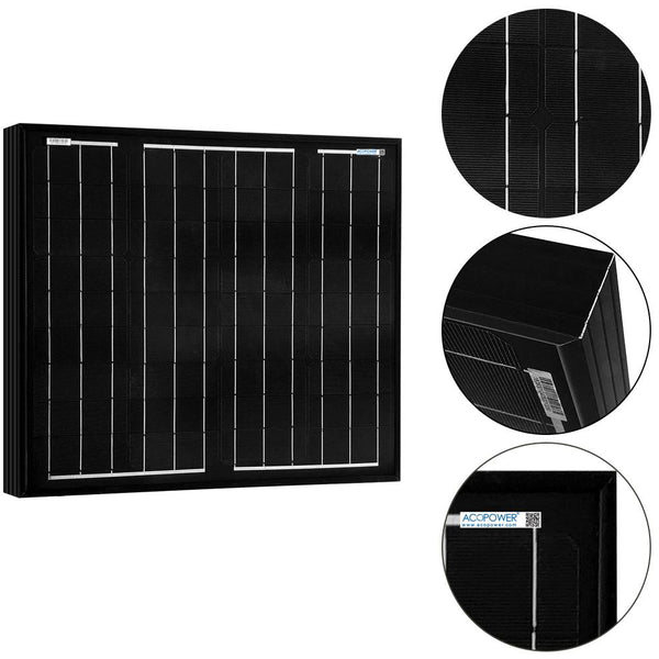 *50 Watts Mono Solar Panel, 12V - Going Off Grid
