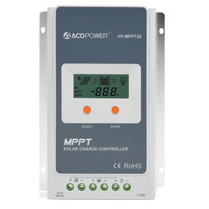 ACOPOWER 12V/24V 200W All Black Mono Solar RV Kits, 30A MPPT Charge Controller - Going Off Grid
