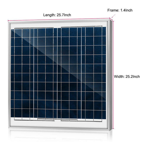 ACOPOWER 60 Watts Poly Solar Panel, 12V - Going Off Grid