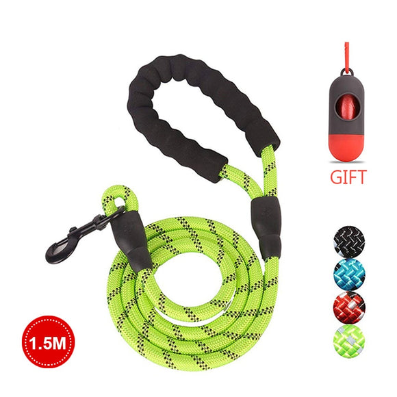 Strong Reflective Nylon Leash Padded Handle