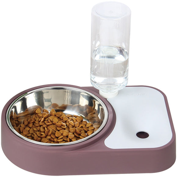 Automatic Water Dispenser With Stainless Feeder Dish