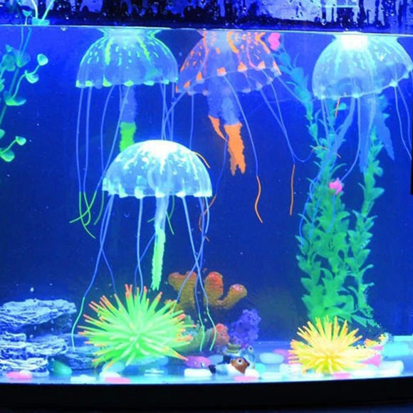 Artificial Glowing Jellyfish Aquatic Landscape Decoration