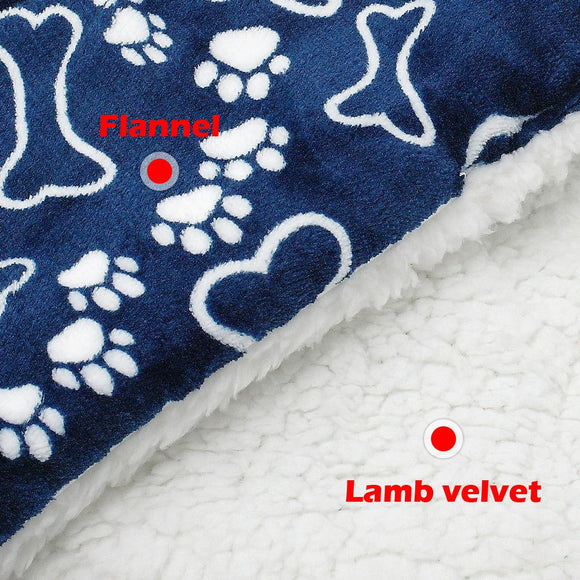 Warm, Fleece Dog Bed Blanket