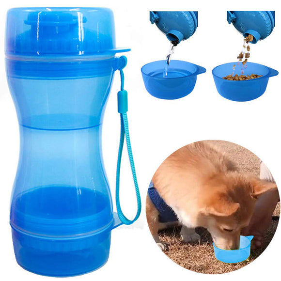 2 in 1 Travel Water Bottle and Food Bowl