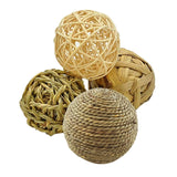 4 Straw Woven Ball Chew Toy Hamster