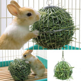 Hanging Hay Ball Toys Feed Dispense Hamster Rabbit