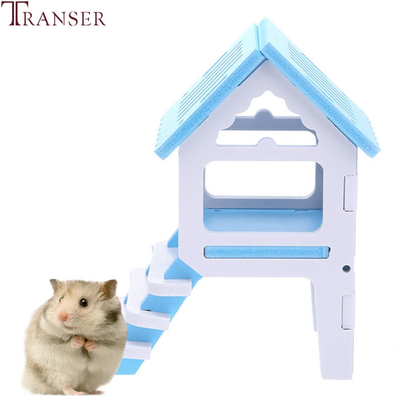 Mini House With Ladder Hamster