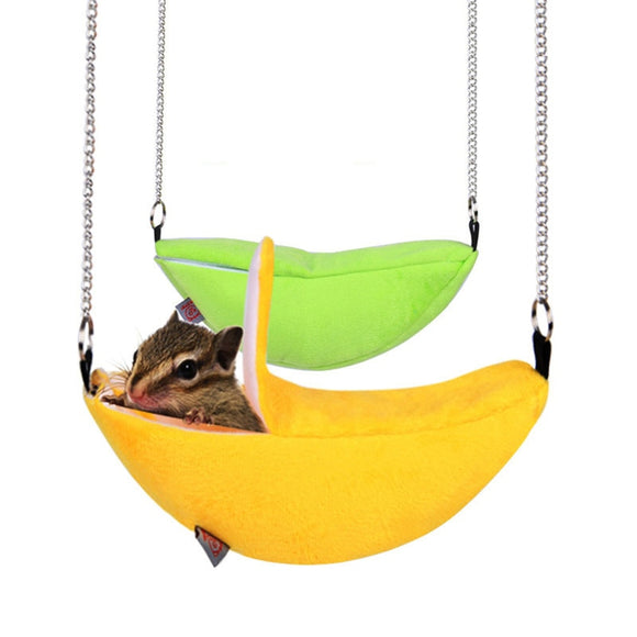 Cotton Hammock Banana Shape For Hamster