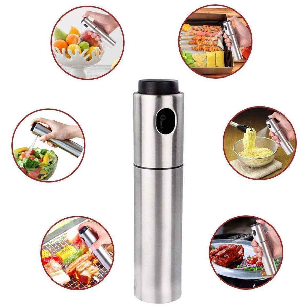 Stainless Steel Olive  Spray Bottle Oil Sprayer Pot Cooking Kitchen Tools