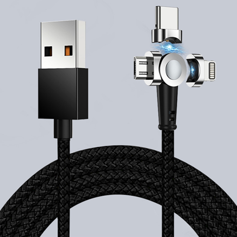 Universal Magnetic Phone Charging Cable, 3 in 1 Cable