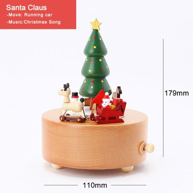 CAPRICE™ Handmade Wooden Rotating Music Boxes
