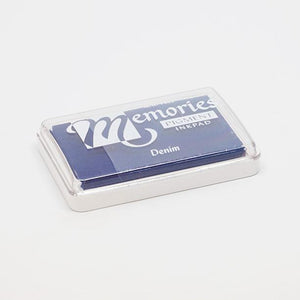 Dark blue stamp pad for print making.