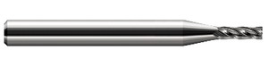 "This Harvey Tool 3/64"" 4-flute square end mill offers strength and stability."