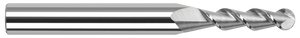 "This Harvey 1/32"" ball end mill features a two-flute, 45° high-helix design which produces excellent results in aluminum."
