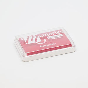 Pomegranate stamp pad for print making.