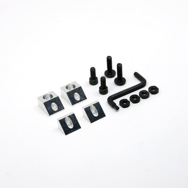 This set of fixturing accessories provides rigid workholding for your desktop CNC machine.