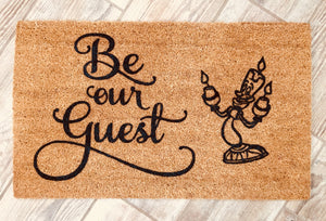 Beauty and the Beast doormat