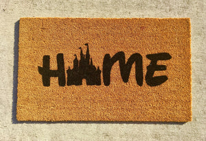 Castle home doormat