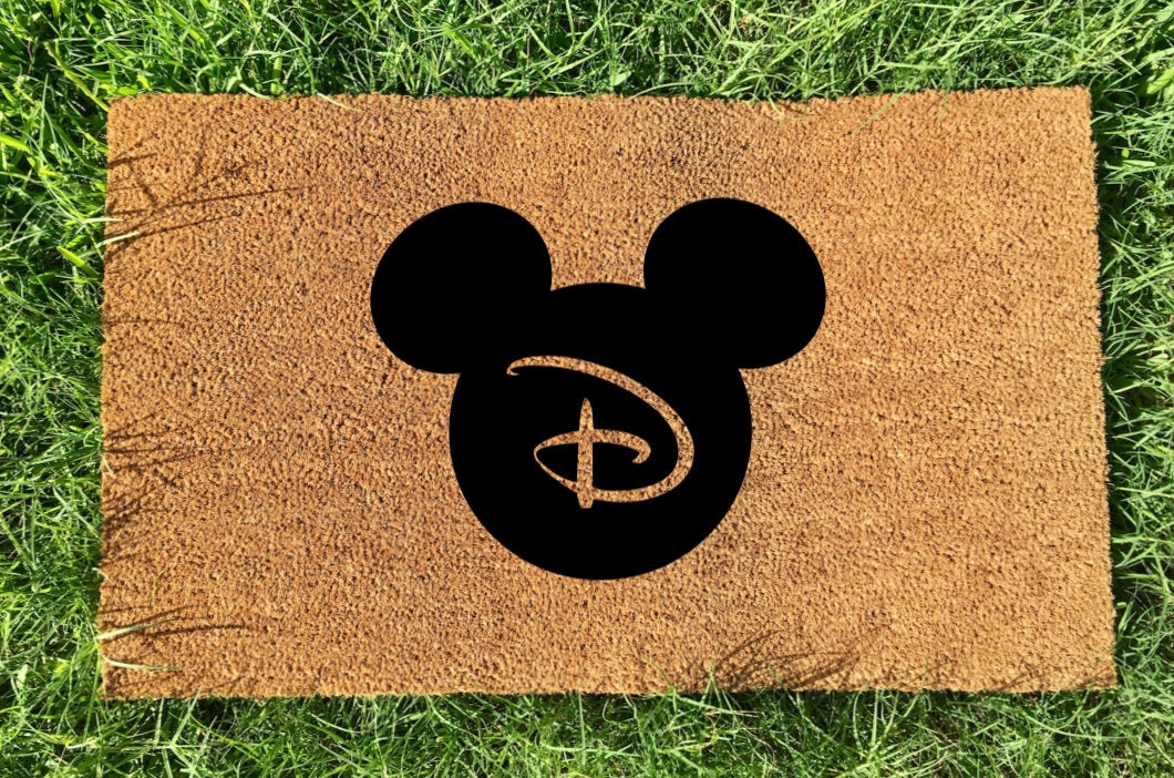 Personalized Mickey Initial Doormat