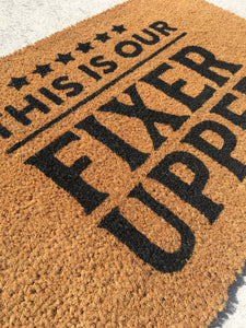 Fixer upper doormat