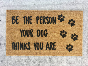 Dog lover doormat