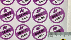 Ellie badge grape soda stickers