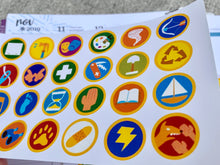 Load image into Gallery viewer, Wilderness explorer badges planner stickers