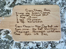 Load image into Gallery viewer, Custom engraved handwriting cutting board