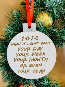 Friends 2020 Christmas ornament