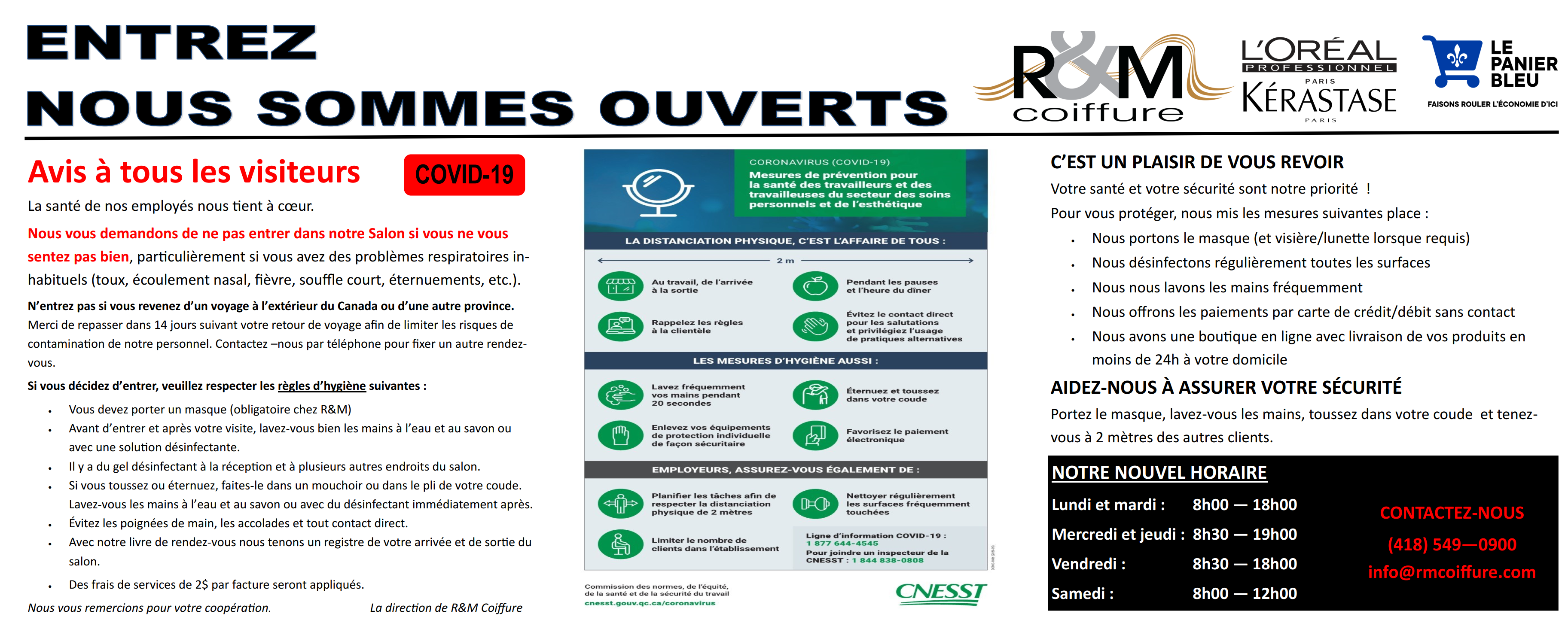 Covid - 19 Feuille info sanitaire 12 x 24