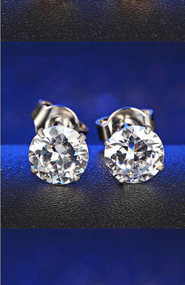 Clear Crystal zirconium earrings