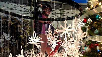 How to Make a Snowflake Mobile Decoration