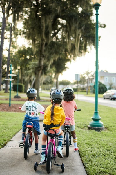 Biking with friends is a great way to reduce stress
