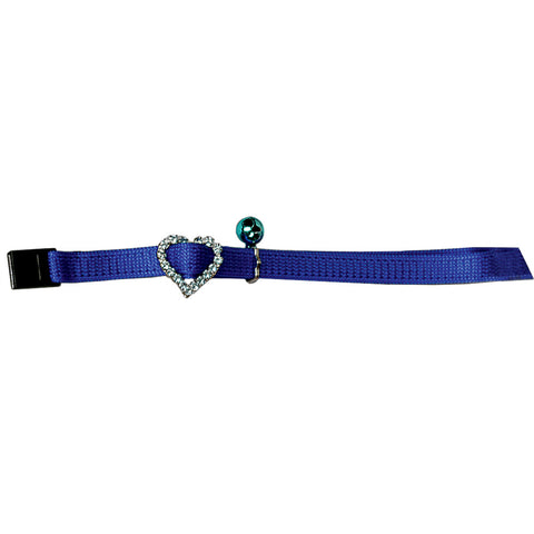 Collier Coeur de crystal bleu Josty