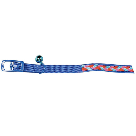 Collier tresse colorée bleu Josty