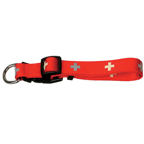 Collier nylon rouge Suisse Josty