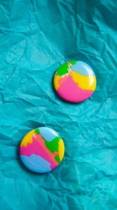 Paint Brush Stroke Colourful Stud Earrings Studio Ides