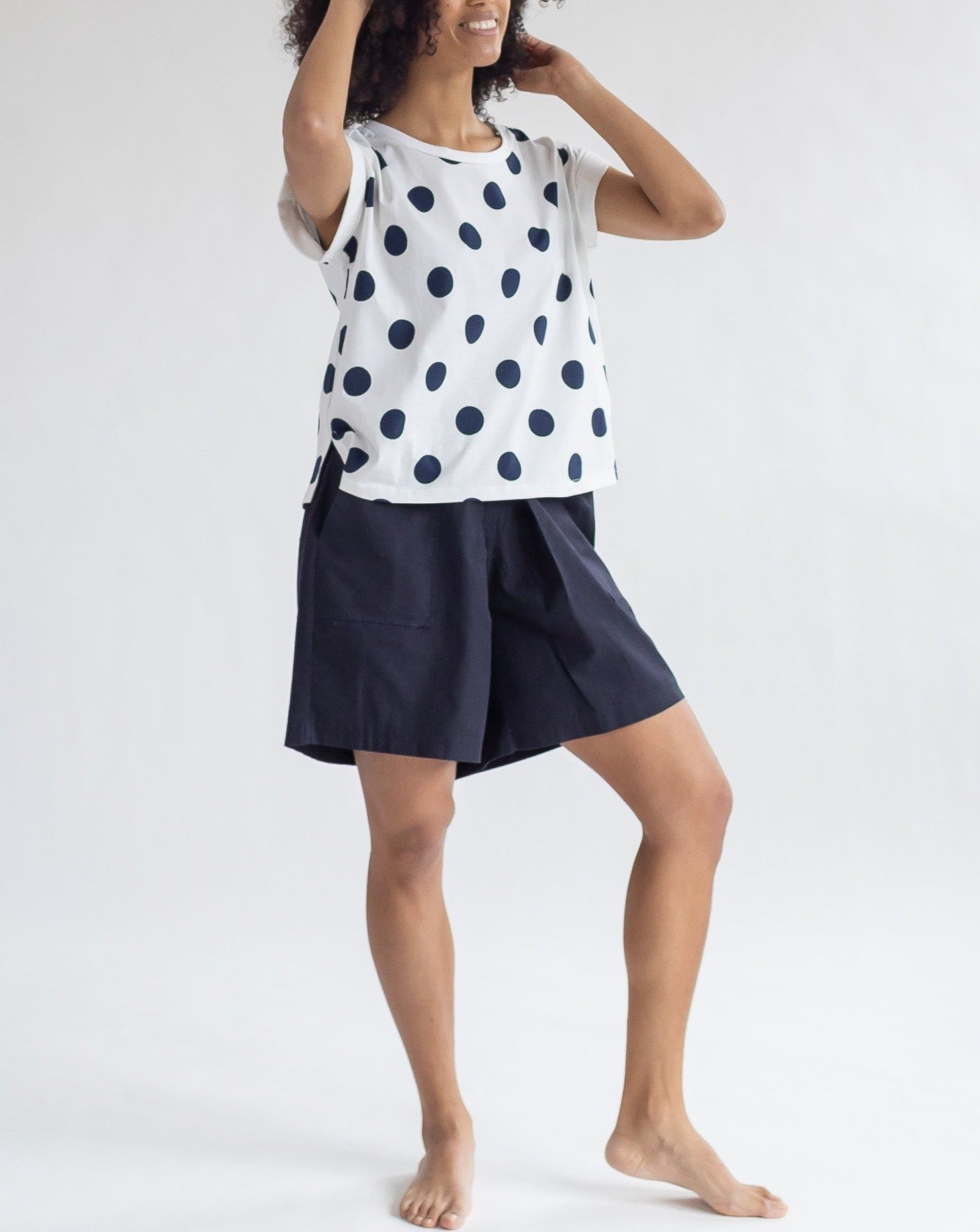 Sleeveless Polka Dot T-Shirt