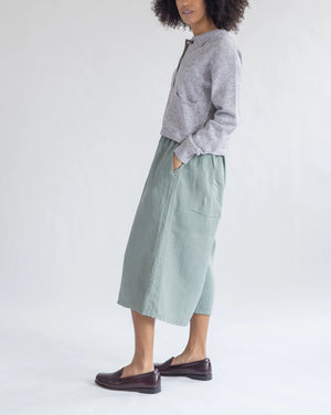 Pull-On Linen Culottes