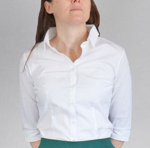 Tailored White Blouse