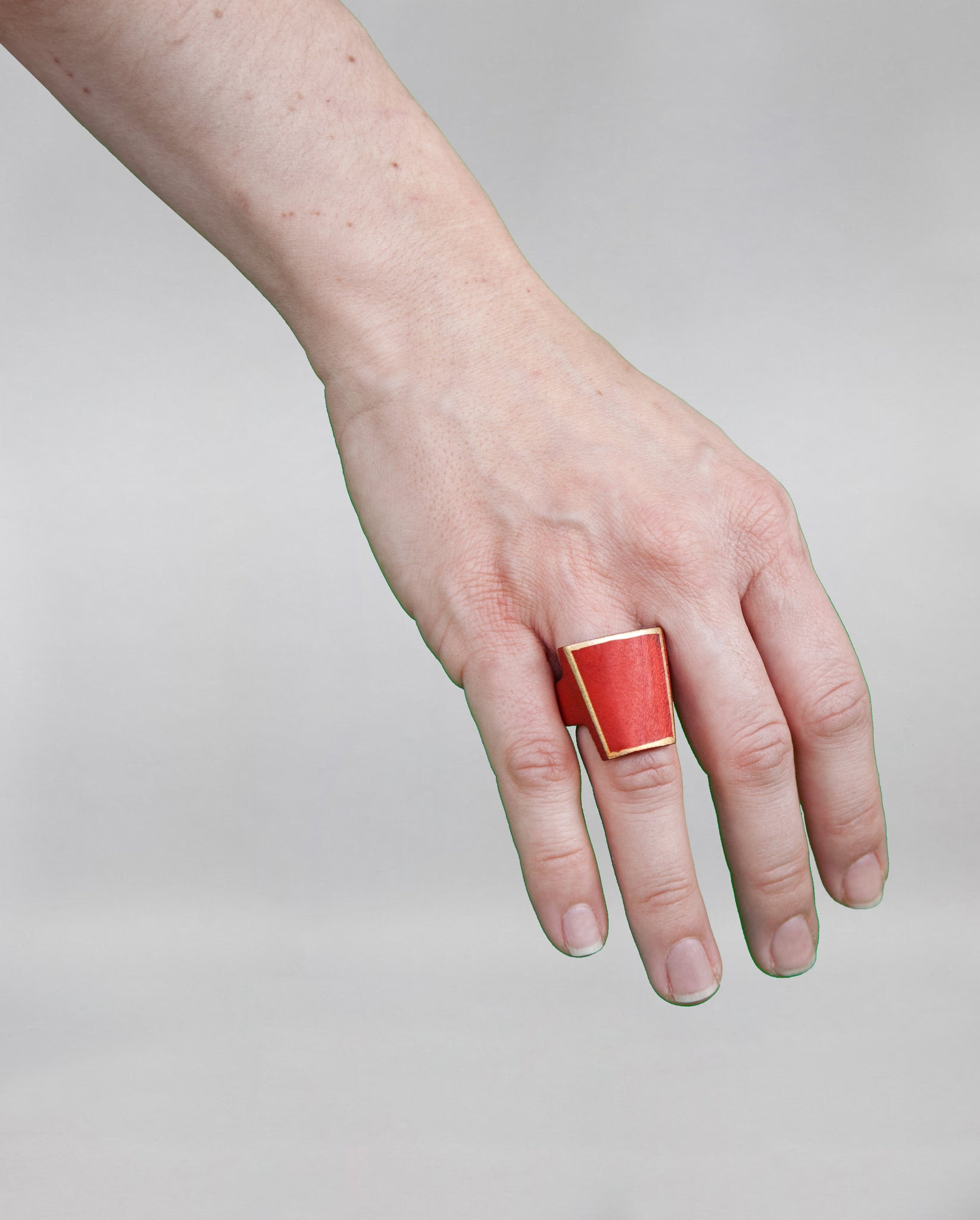Red Wooden Ring