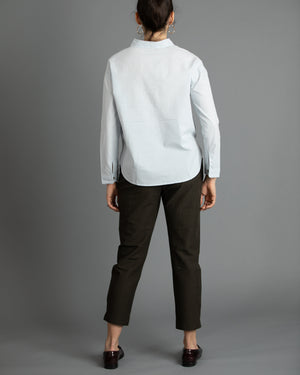 Pale Sky Blue Henley Shirt